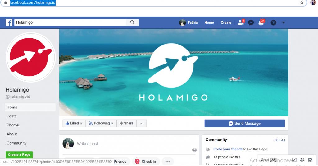 Facebook Holamigo